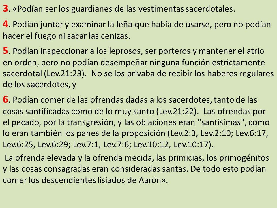 3. «Podían ser los guardianes de las vestimentas sacerdotales.