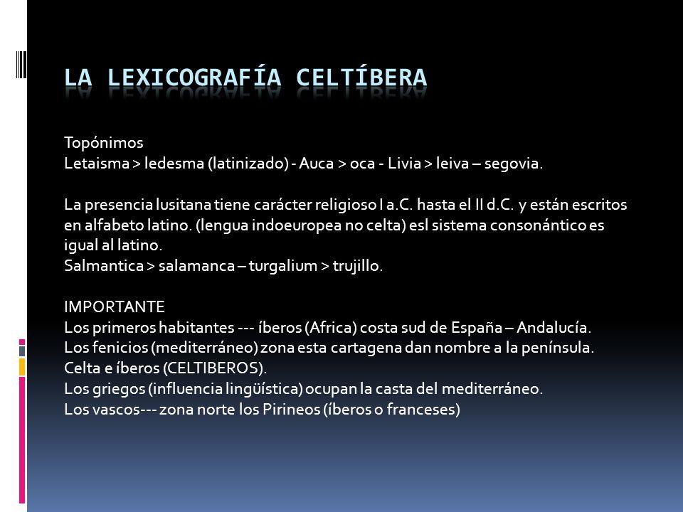 La lexicografía celtíbera