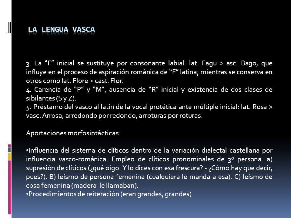 La lengua Vasca