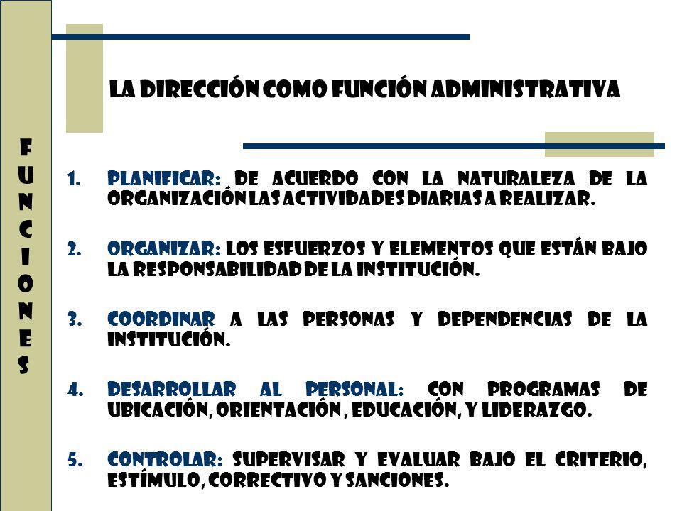 La dirección como función administrativa