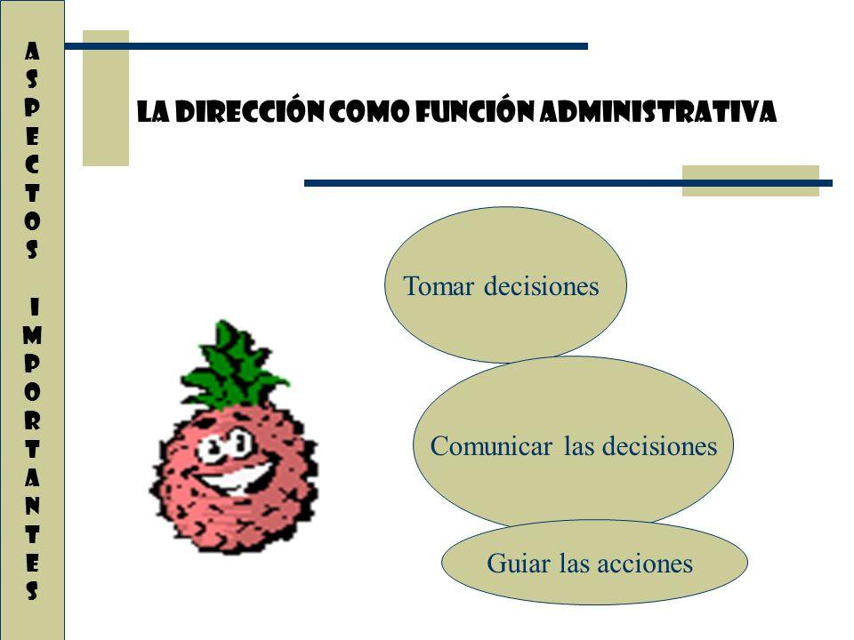 Comunicar las decisiones
