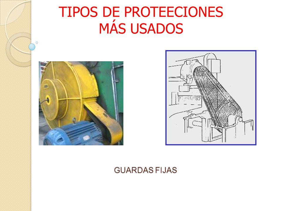 TIPOS DE PROTEECIONES MÁS USADOS
