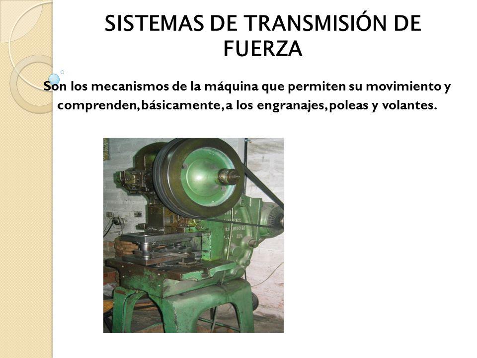SISTEMAS DE TRANSMISIÓN DE FUERZA