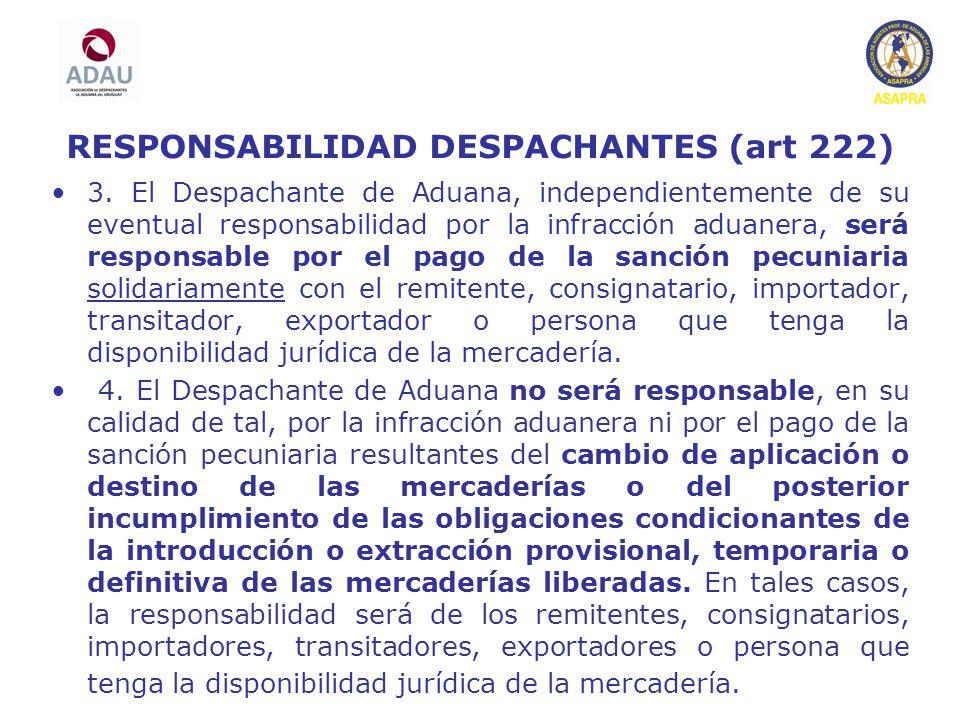 RESPONSABILIDAD DESPACHANTES (art 222)