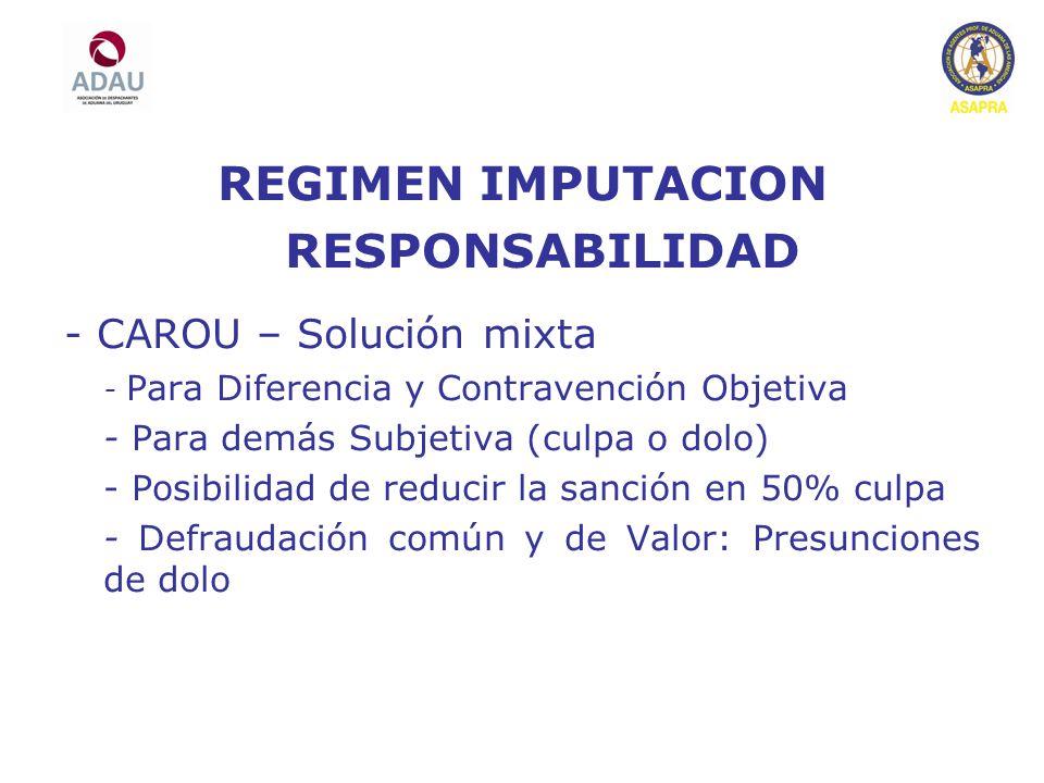 REGIMEN IMPUTACION RESPONSABILIDAD