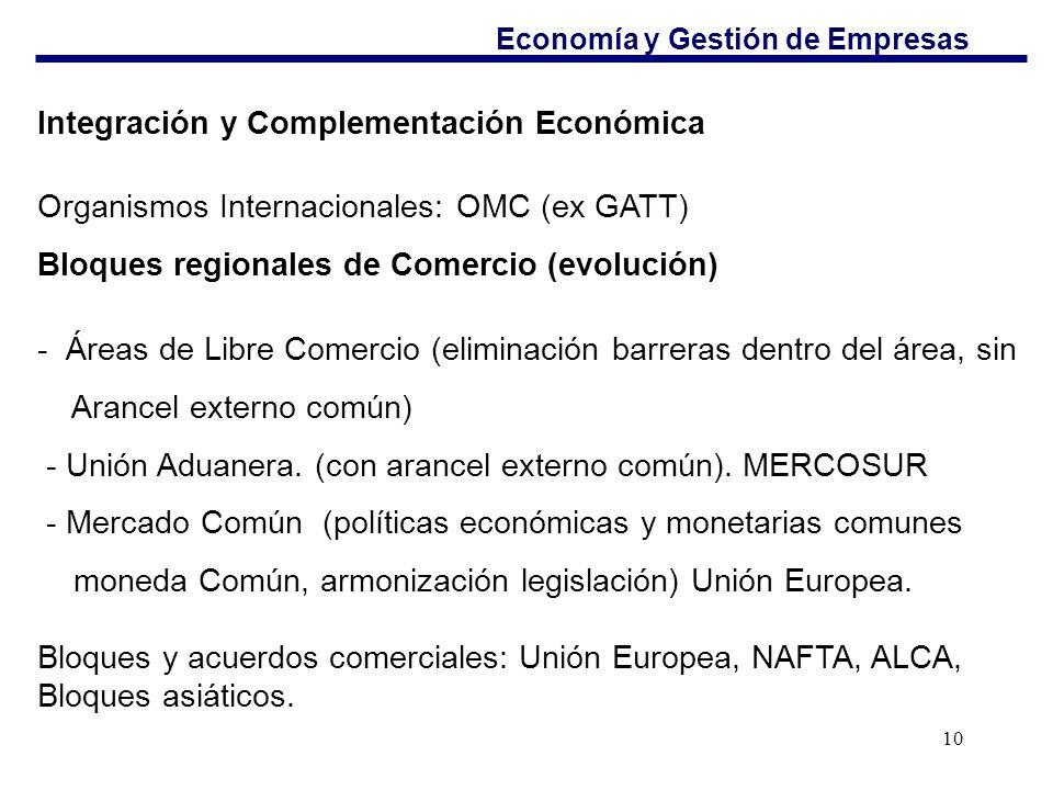 Integración y Complementación Económica
