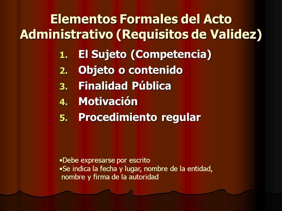 Elementos Formales del Acto Administrativo (Requisitos de Validez)