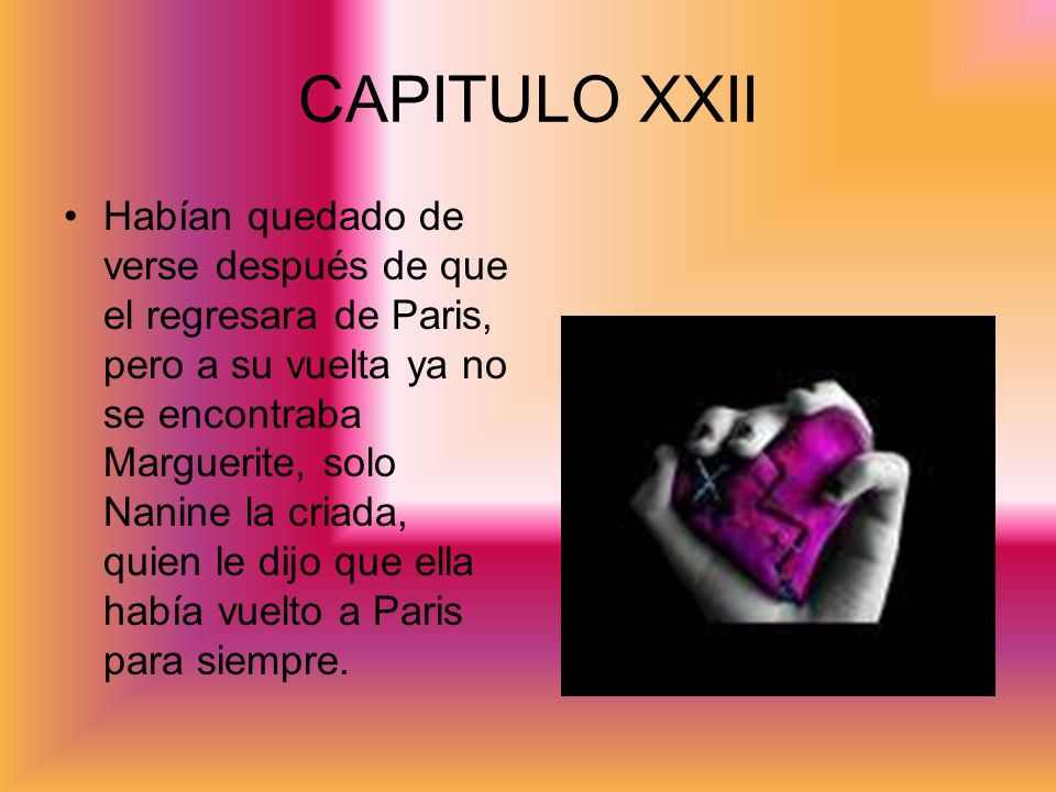 CAPITULO XXII