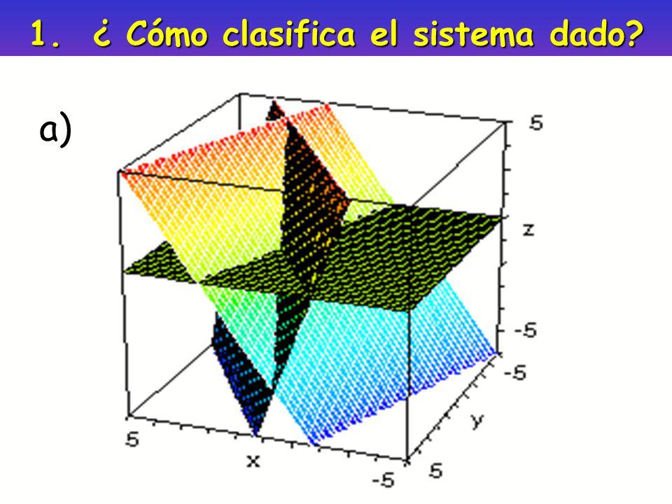 1. ¿ Cómo clasifica el sistema dado