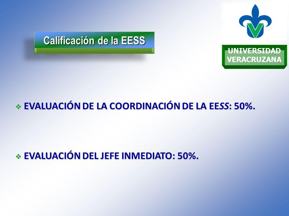 UNIVERSIDAD VERACRUZANA Calificación de la EESS