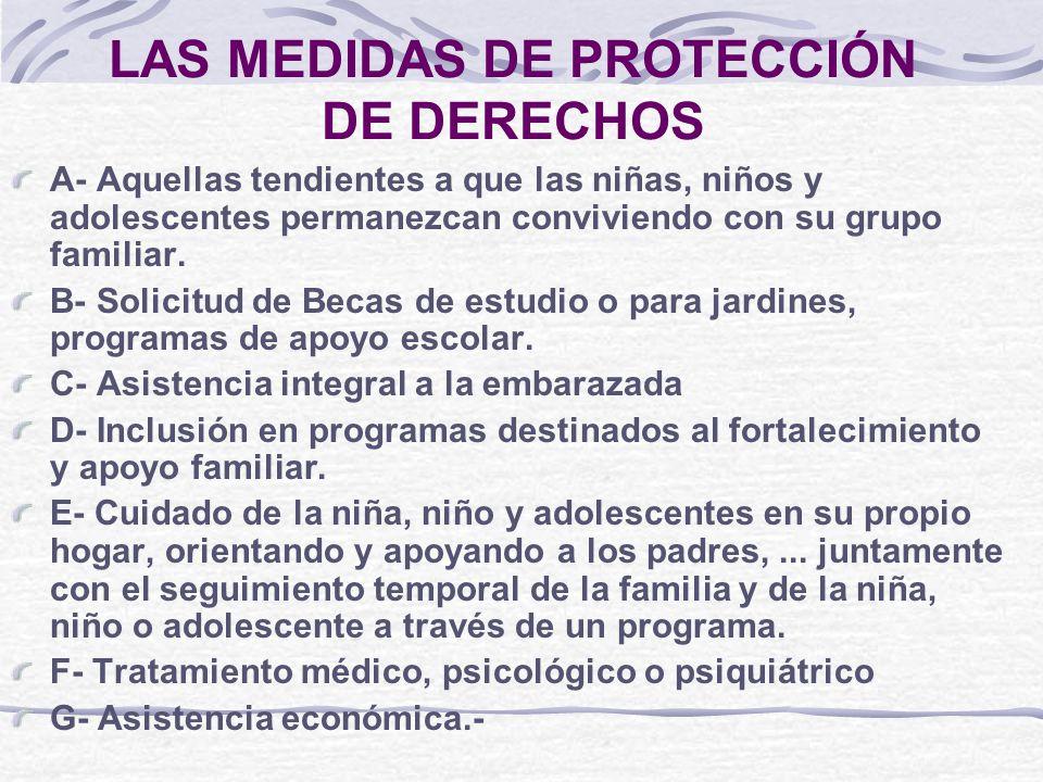 LAS MEDIDAS DE PROTECCIÓN DE DERECHOS