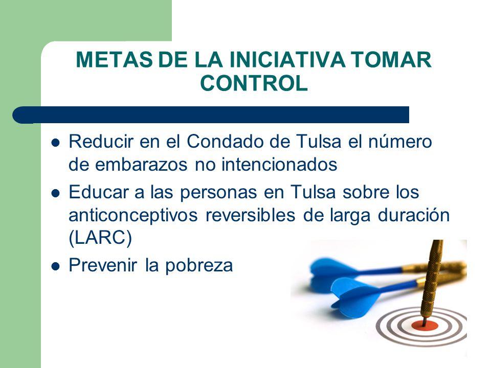 METAS DE LA INICIATIVA TOMAR CONTROL