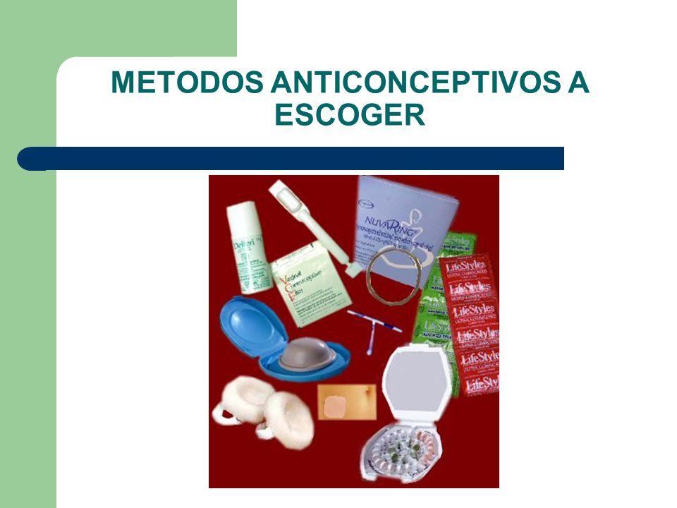 METODOS ANTICONCEPTIVOS A ESCOGER
