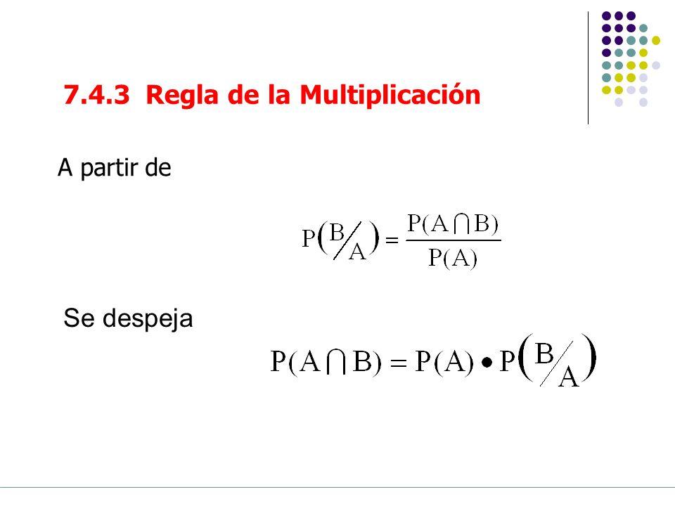 7.4.3 Regla de la Multiplicación