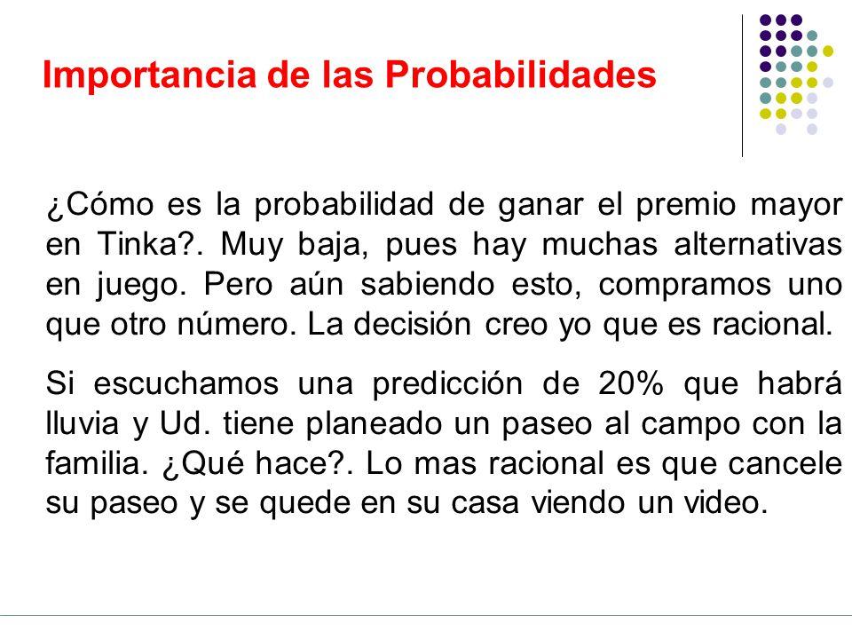 Importancia de las Probabilidades