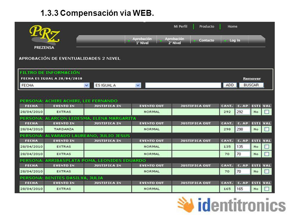 1.3.3 Compensación via WEB.