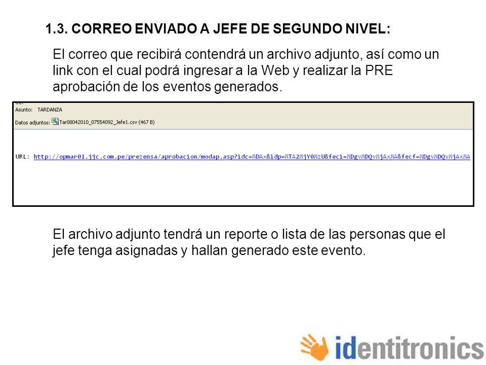 1.3. CORREO ENVIADO A JEFE DE SEGUNDO NIVEL: