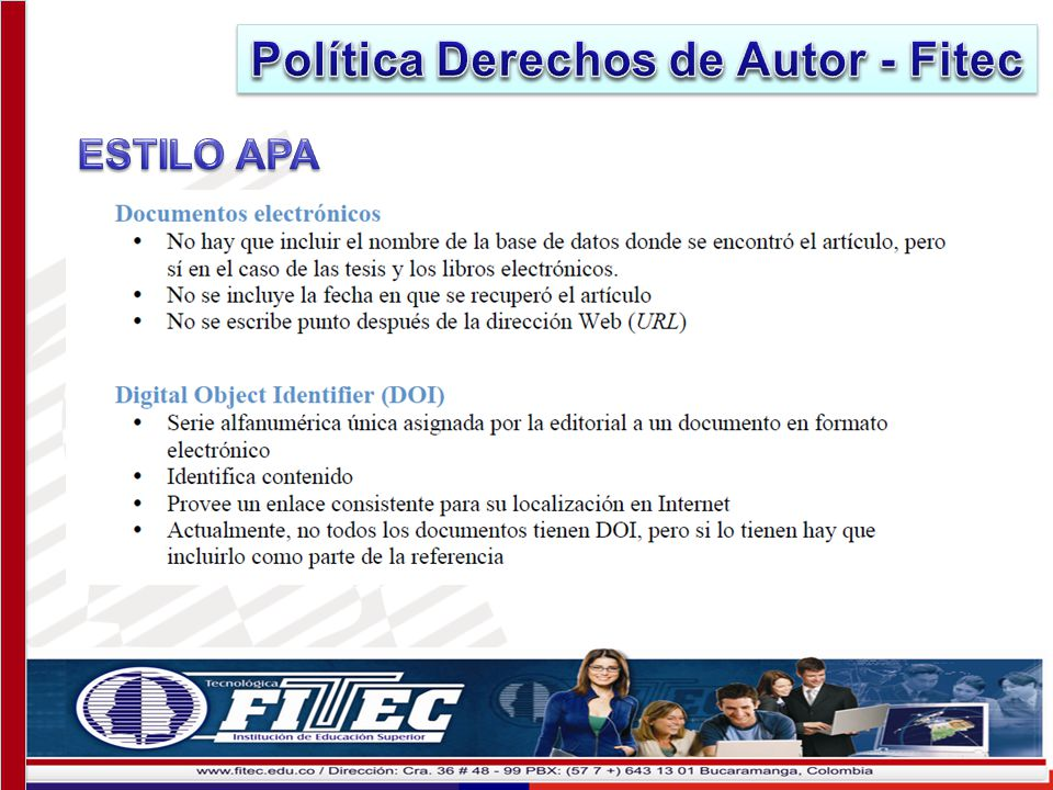 Política Derechos de Autor - Fitec