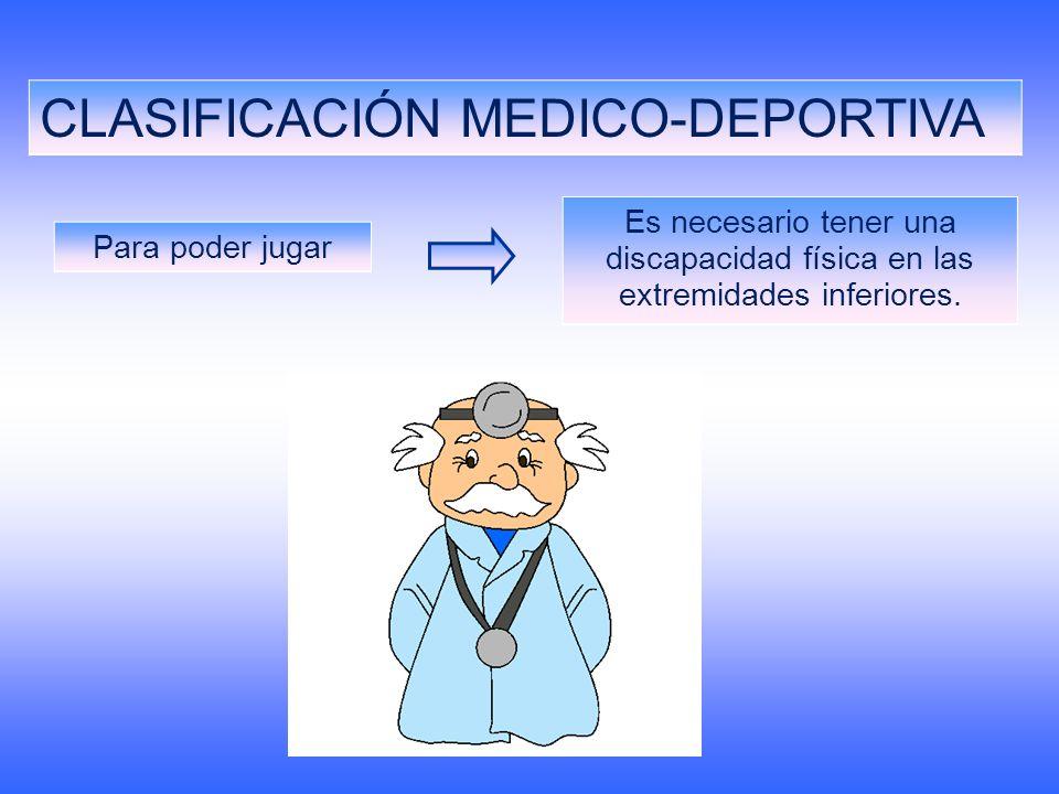CLASIFICACIÓN MEDICO-DEPORTIVA