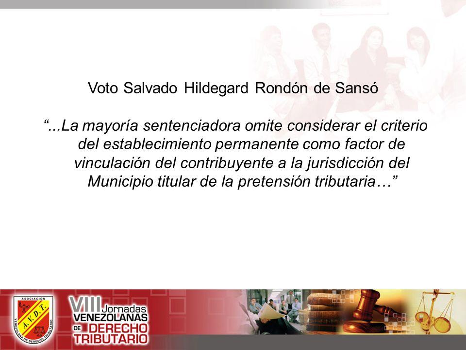 Voto Salvado Hildegard Rondón de Sansó