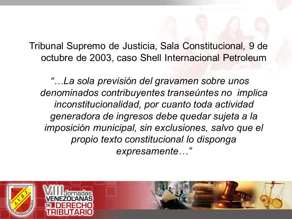 Tribunal Supremo de Justicia, Sala Constitucional, 9 de octubre de 2003, caso Shell Internacional Petroleum
