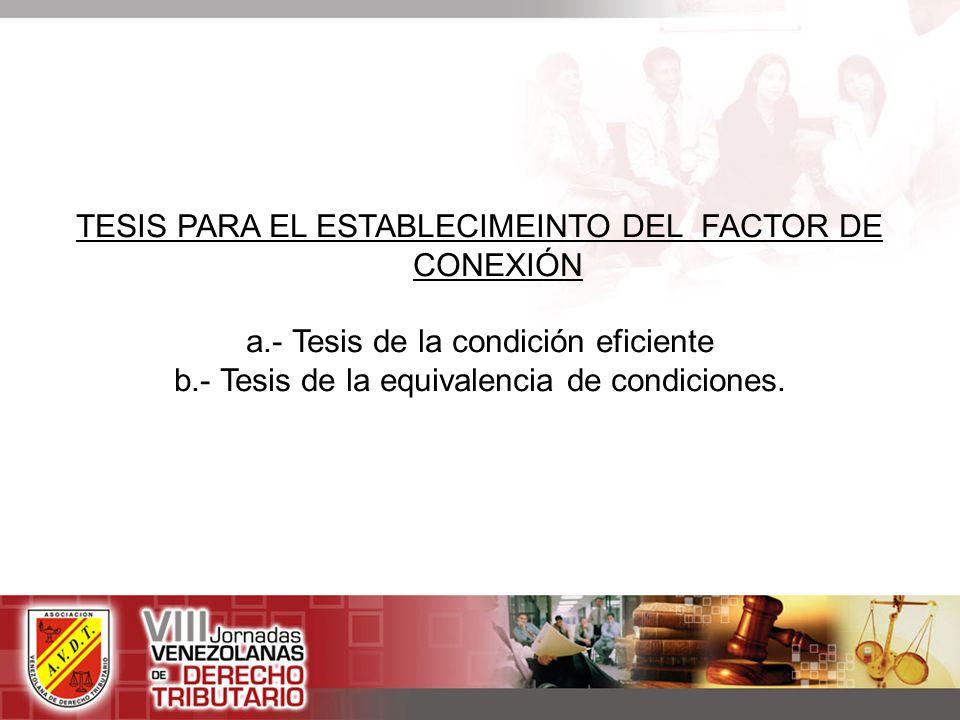 TESIS PARA EL ESTABLECIMEINTO DEL FACTOR DE CONEXIÓN