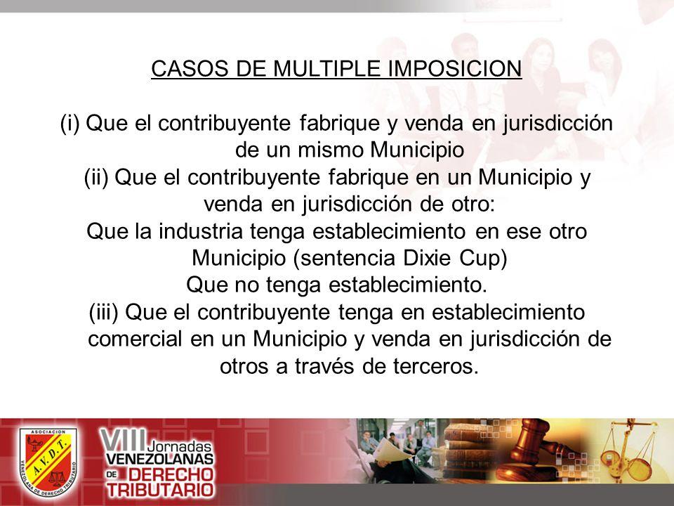 CASOS DE MULTIPLE IMPOSICION