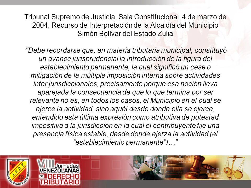 Tribunal Supremo de Justicia, Sala Constitucional, 4 de marzo de 2004, Recurso de Interpretación de la Alcaldía del Municipio Simón Bolívar del Estado Zulia