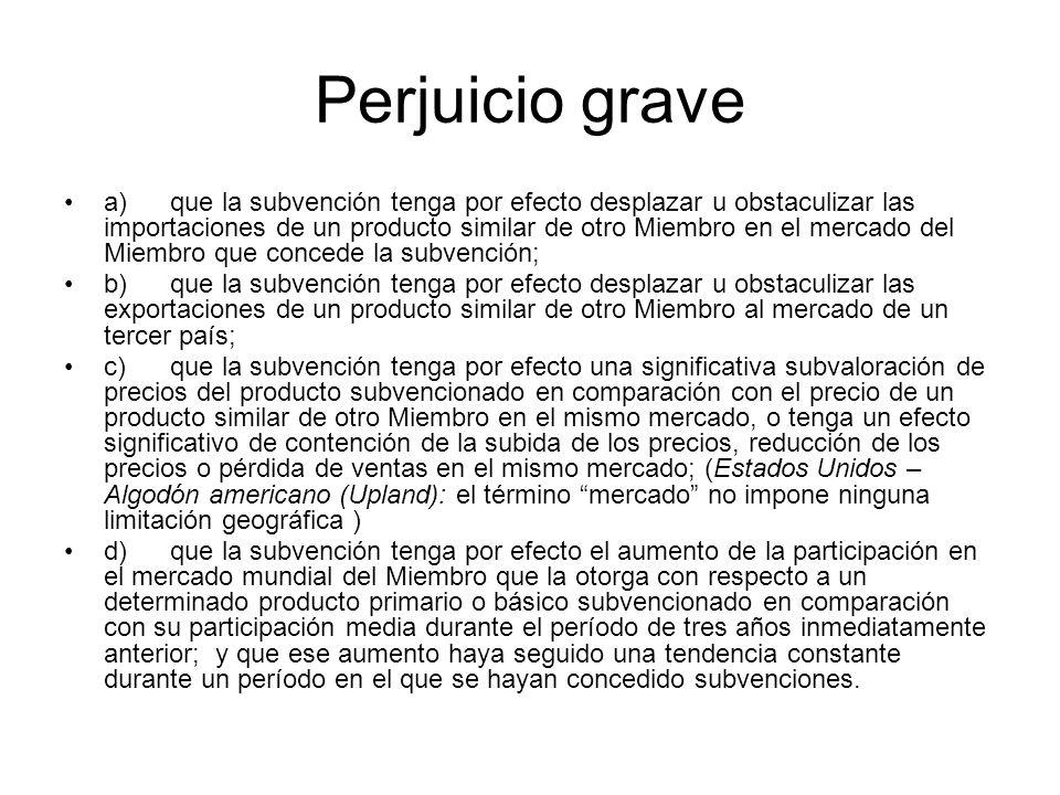 Perjuicio grave