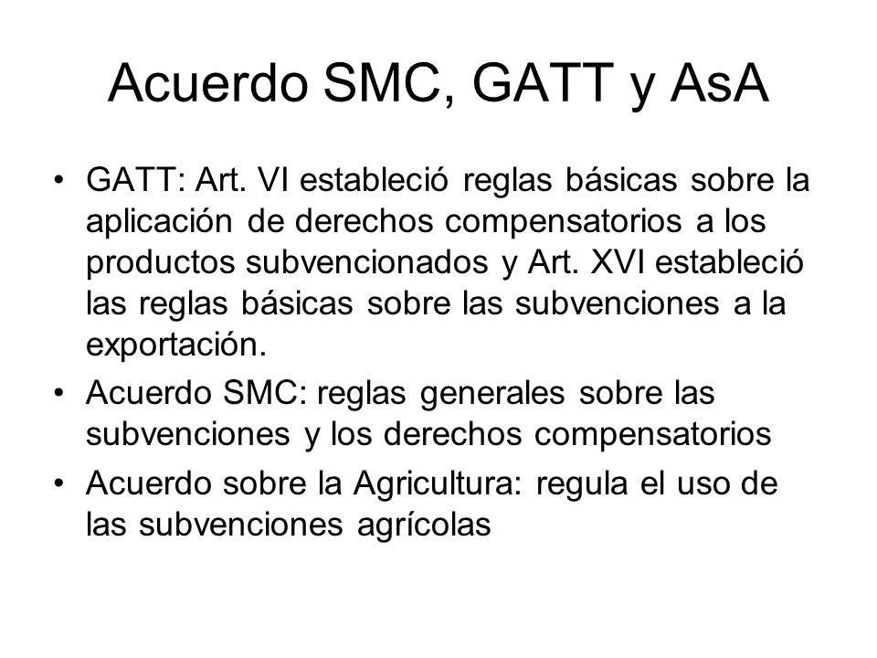 Acuerdo SMC, GATT y AsA