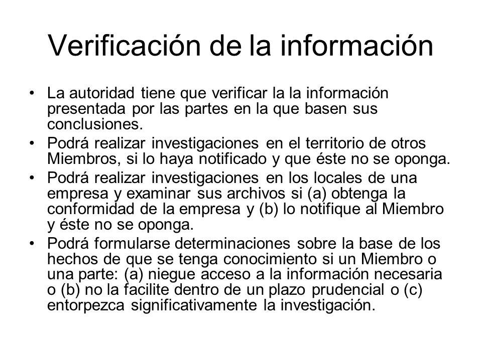 Verificación de la información