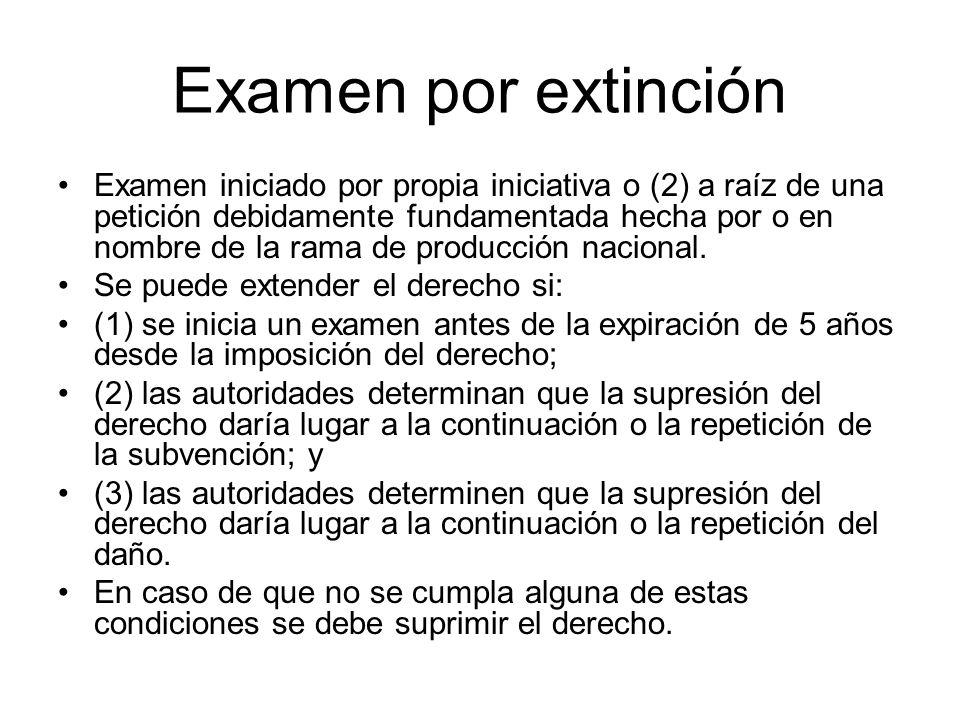 Examen por extinción