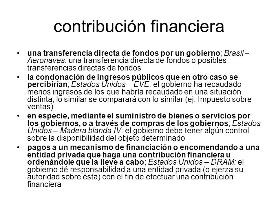 contribución financiera