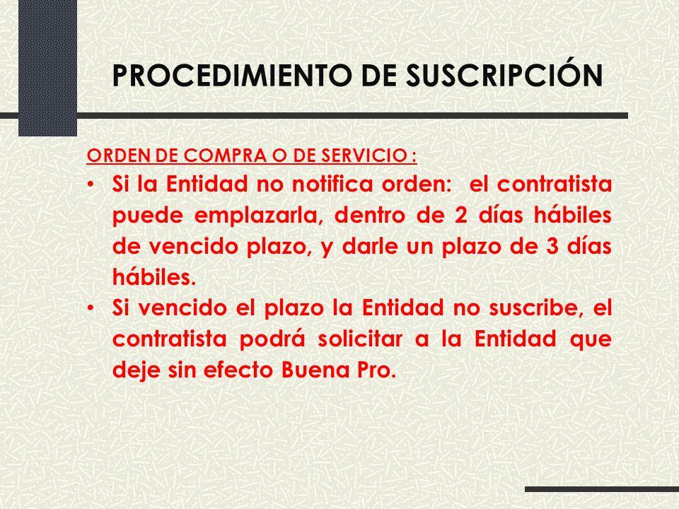 PROCEDIMIENTO DE SUSCRIPCIÓN