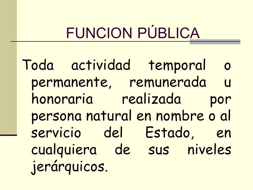 FUNCION PÚBLICA