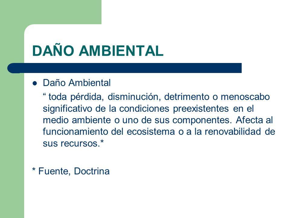 DAÑO AMBIENTAL Daño Ambiental
