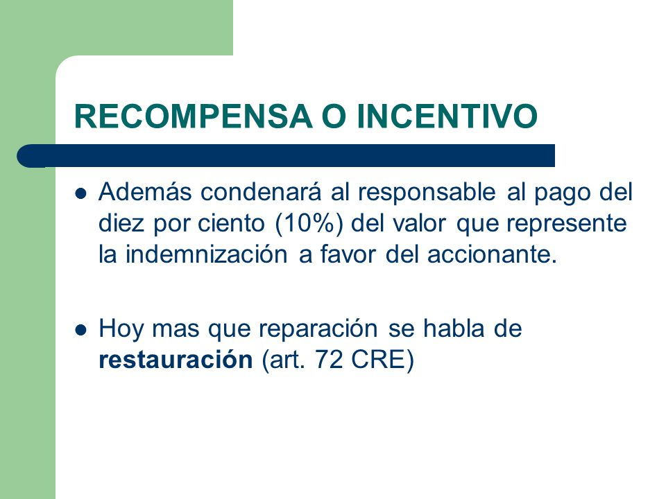 RECOMPENSA O INCENTIVO