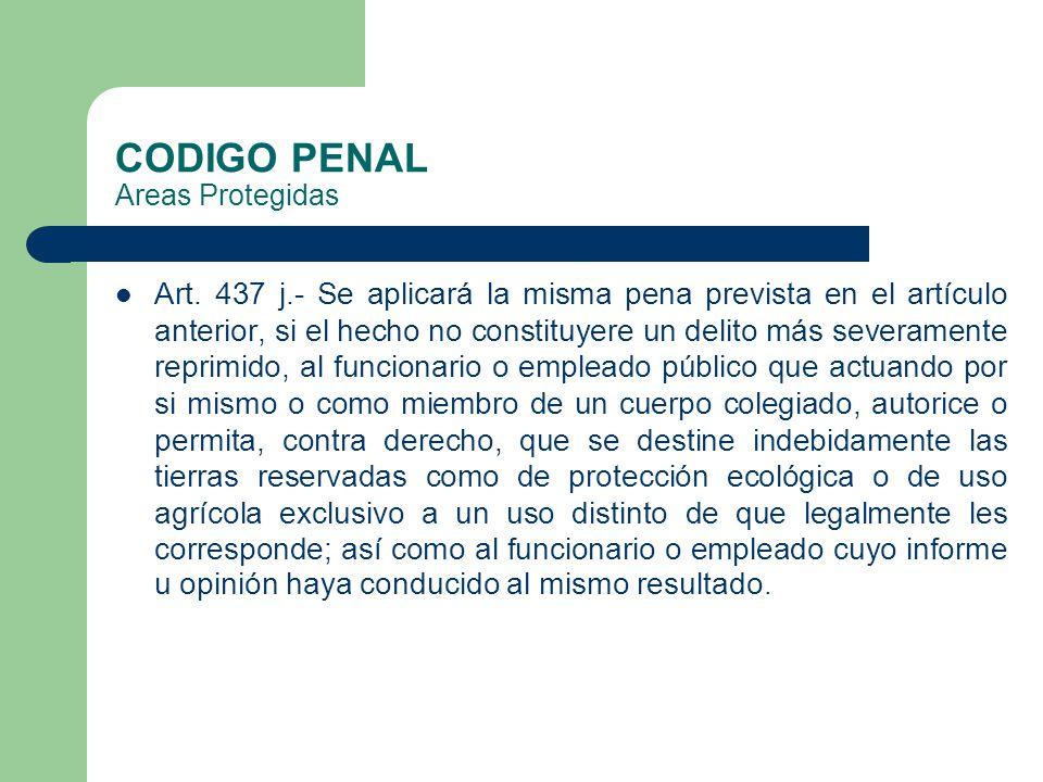 CODIGO PENAL Areas Protegidas