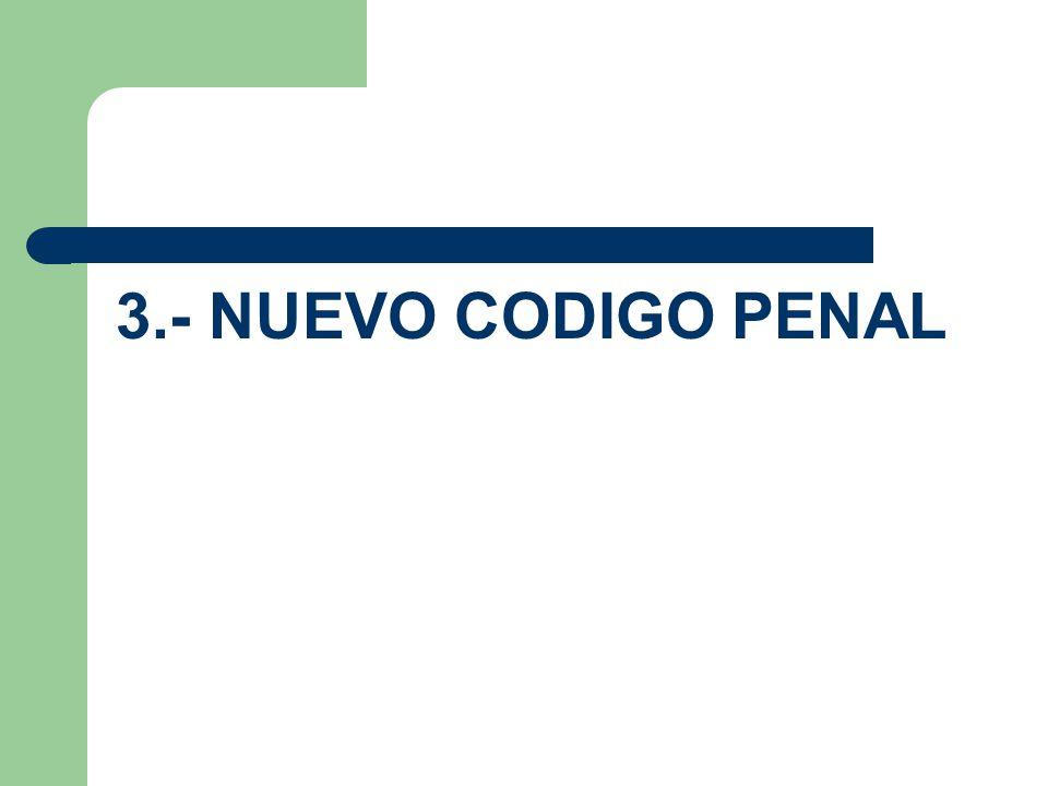 3.- NUEVO CODIGO PENAL