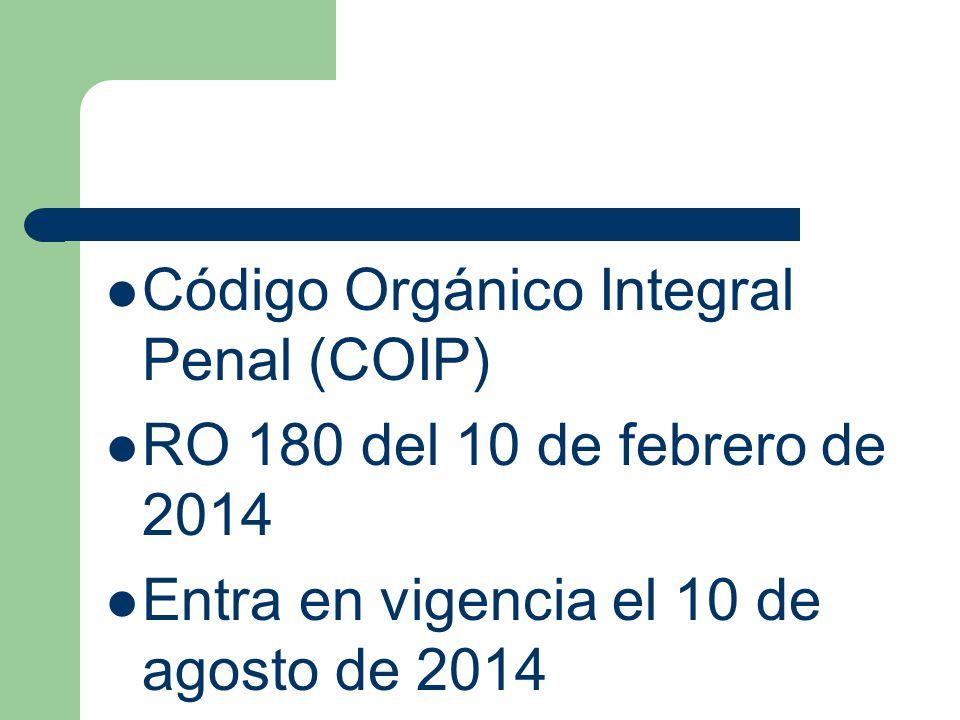 Código Orgánico Integral Penal (COIP)