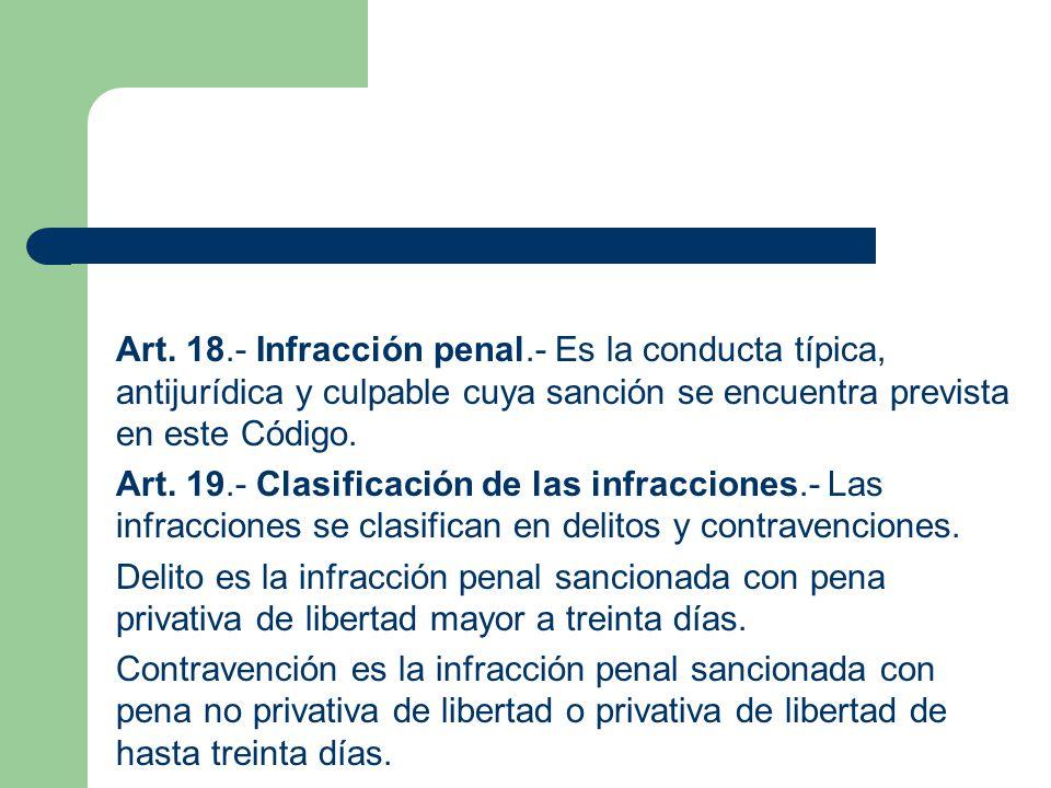 Art. 18. - Infracción penal