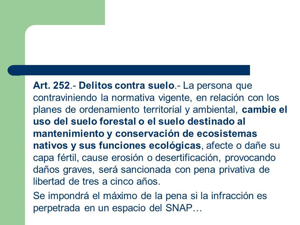 Art. 252. - Delitos contra suelo