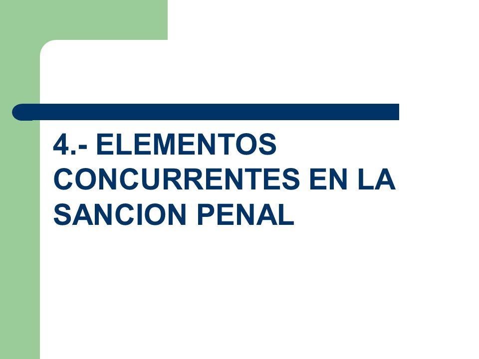 4.- ELEMENTOS CONCURRENTES EN LA SANCION PENAL