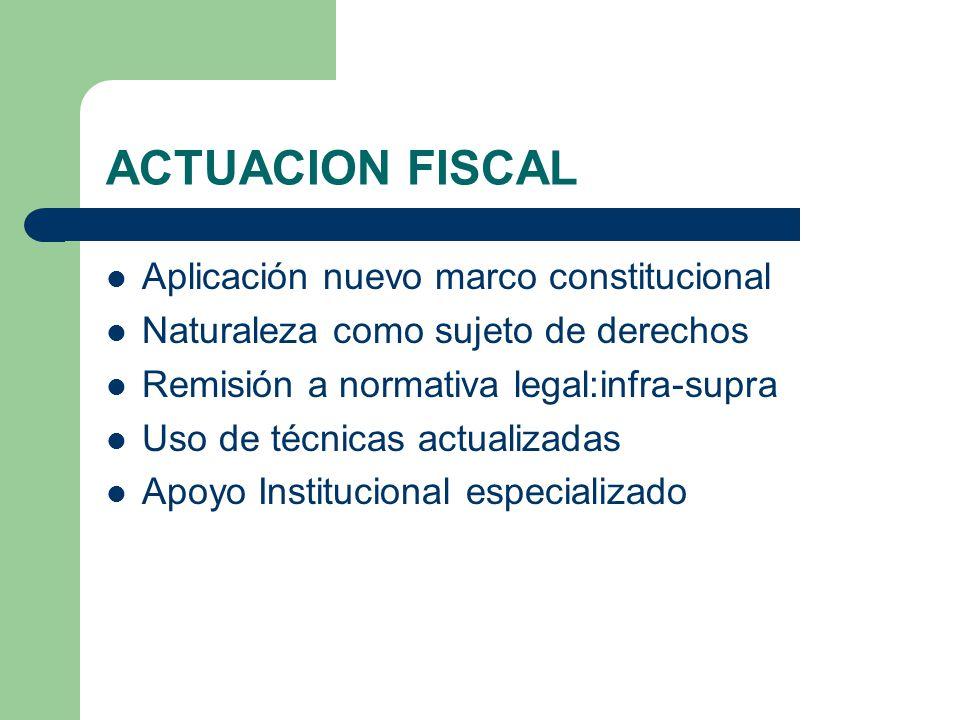 ACTUACION FISCAL Aplicación nuevo marco constitucional