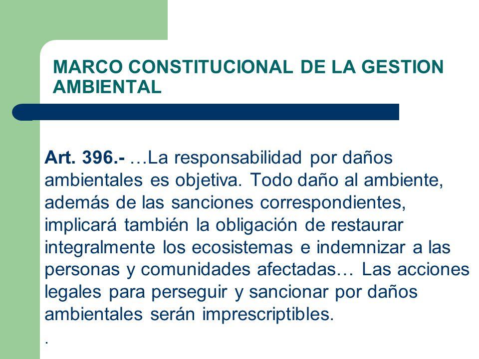 MARCO CONSTITUCIONAL DE LA GESTION AMBIENTAL