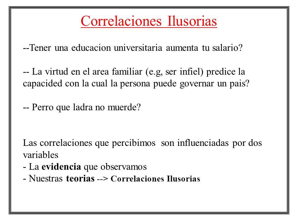 Correlaciones Ilusorias