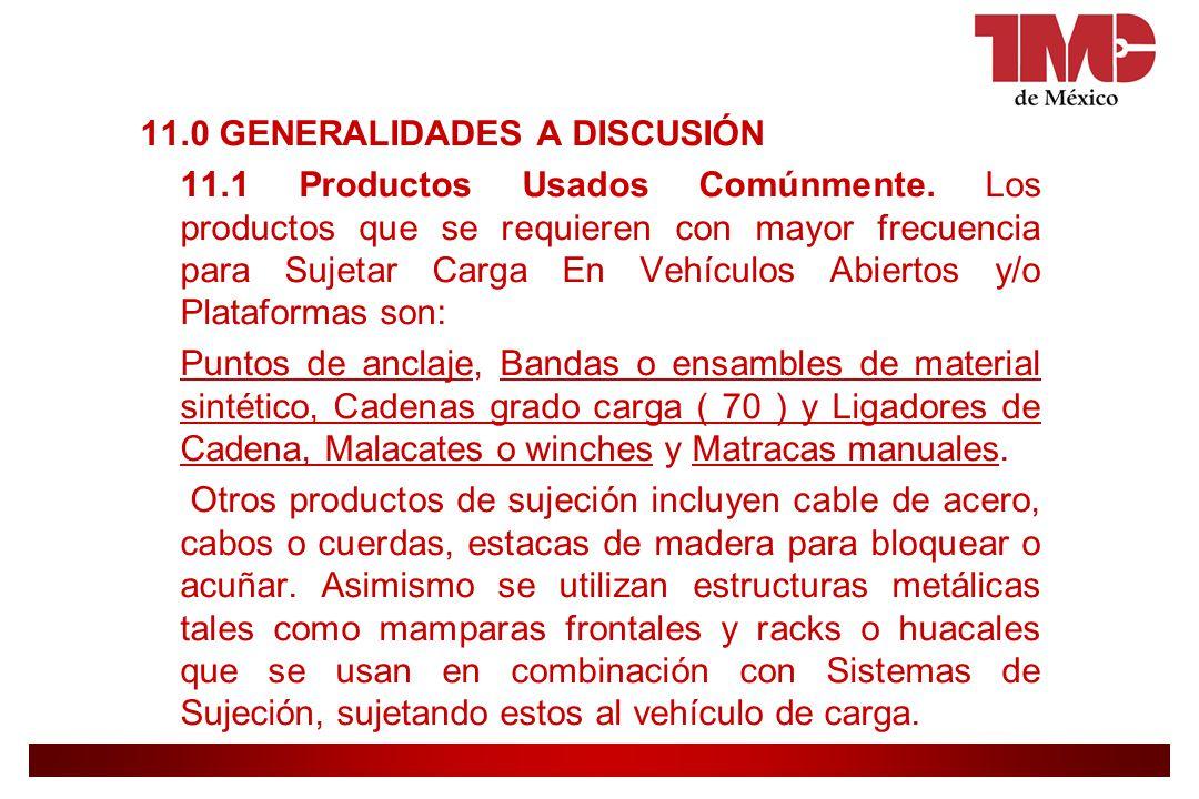 11. 0 GENERALIDADES A DISCUSIÓN 11. 1 Productos Usados Comúnmente