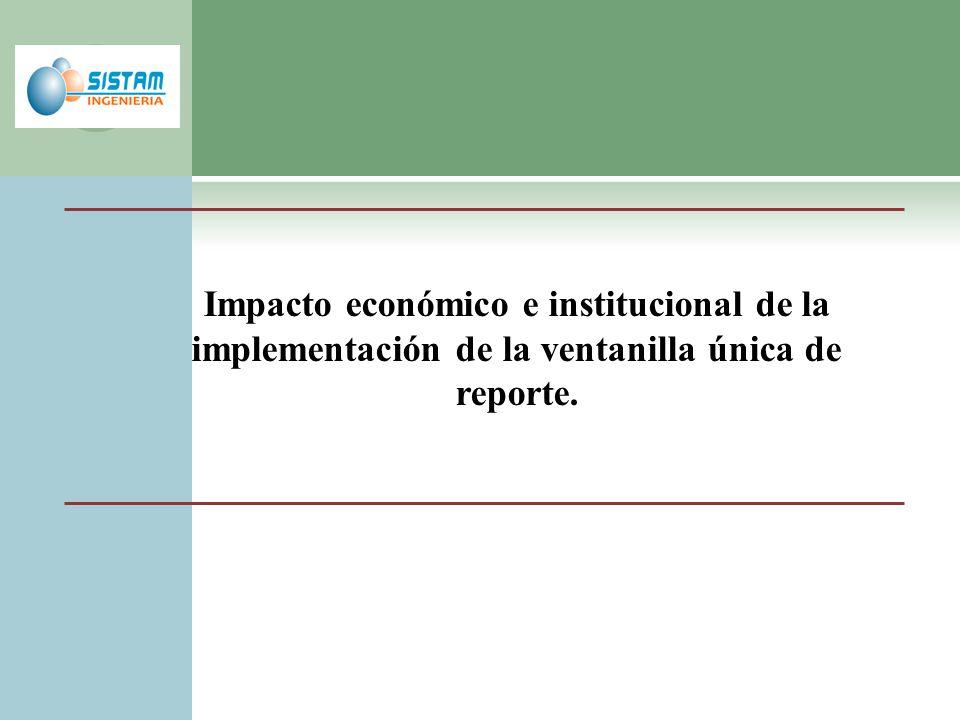 Impacto económico e institucional de la implementación de la ventanilla única de reporte.