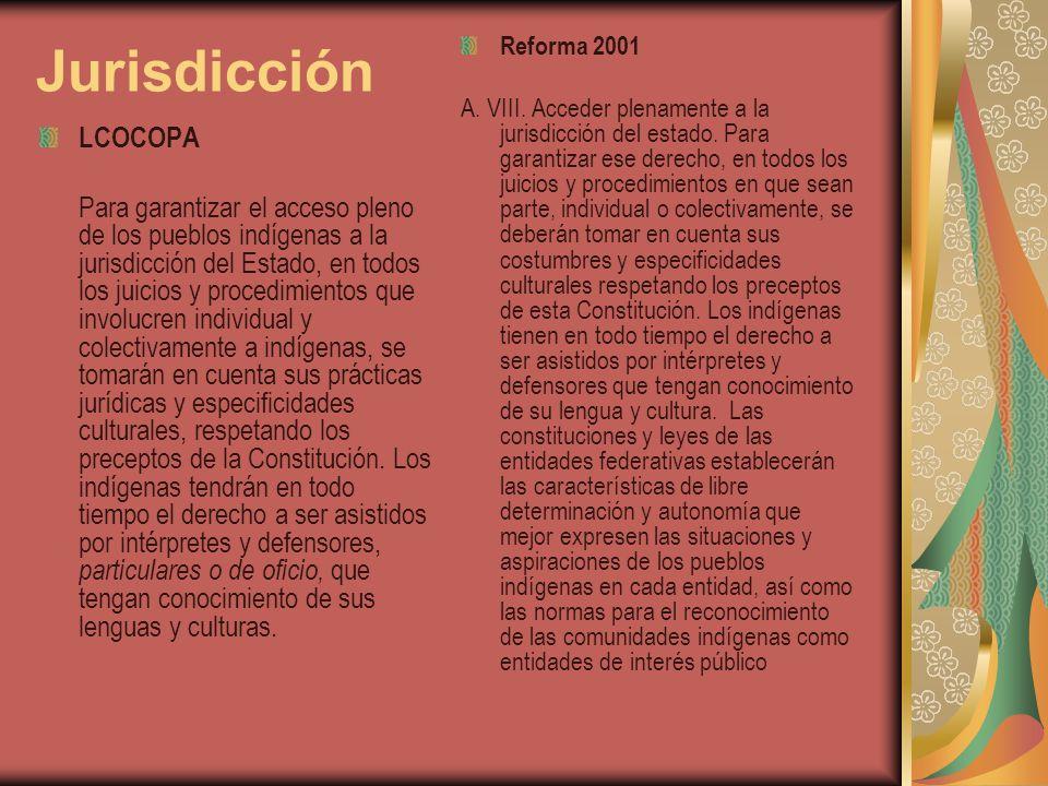 Jurisdicción Reforma 2001.