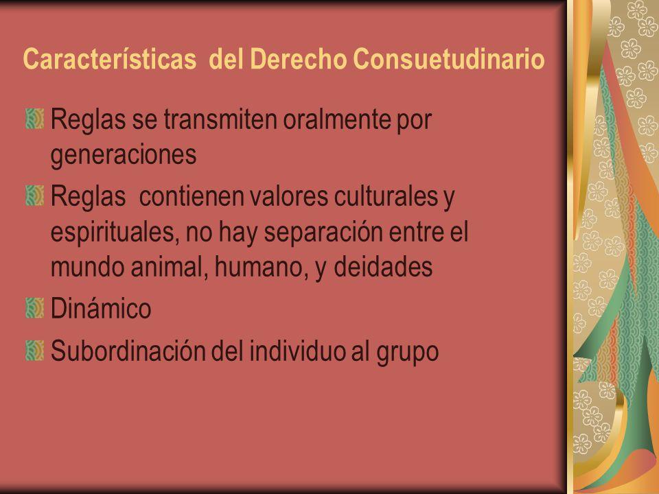 Características del Derecho Consuetudinario